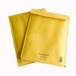 C/0 Featherpost Gold Bubble Envelopes 150 x 210 mm - Box of 100