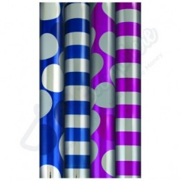 1.5M Dots & Stripes Metallic Gift Wrap Rolls