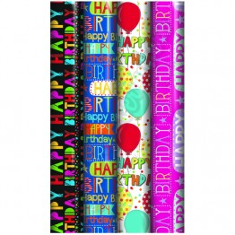 3M Happy Birthday Gift Wrap Rolls