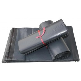 "Grey Plain Recycled Poly Mail Bags | Poly Mailer Bags  | Poly Mailing Bags 425 X 600mm | ~17"" x 24"" - Box of 1000"