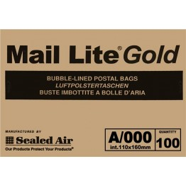 A/000 Maillite Gold/Brown Bubble Lined Envelopes 110 x 160mm - Box of 100