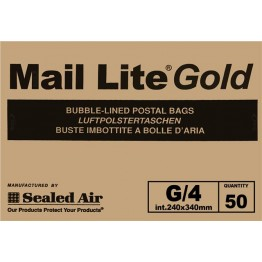 G/4 Mail Lite Gold / Brown Bubble Lined Envelopes 240 x 330mm - Box of 50