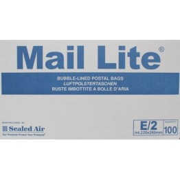 E/2 Mail Lite White Bubble Lined Envelopes 220 x 260mm - Box of 100