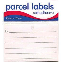 Self Adhesive Parcel Labels Pack of 12