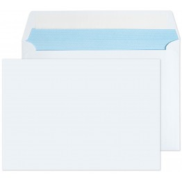 C6/A6 White 1000 Premium Envelopes 114mm x 162mm Peel & Seal 100gsm