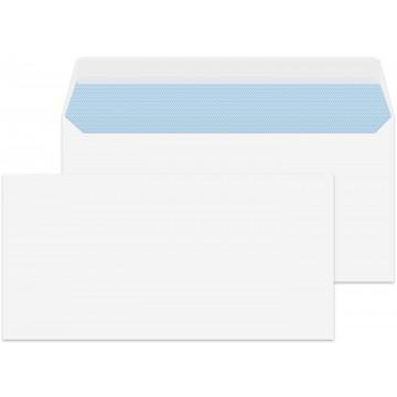 DL/Letter Size White 500 Premium Envelopes 110mm x 220mm Peel & Seal 100gsm