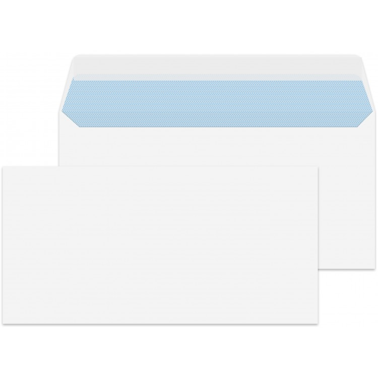 dl letter size white 500 premium envelopes 110mm x 220mm peel seal