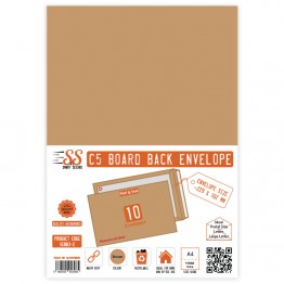 Board Back Manila / Brown Envelopes A5/C5, Pack of 10