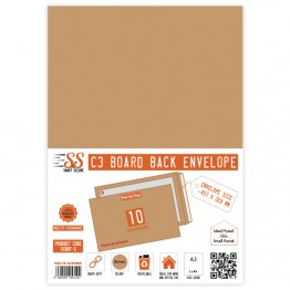 Board Back Manila / Brown Envelopes A3/C3, Pack of 10