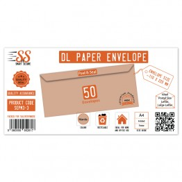 DL Manila Premium Envelope 115gsm, Pack of 50