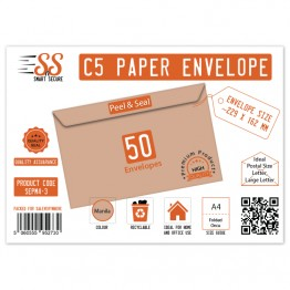 A5/C5 Manilla Premium Envelope 115gsm, Pack of 50