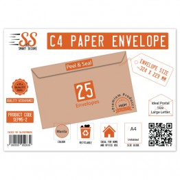 A4/C4 Manila Premium Envelope 115gsm, Pack of 25