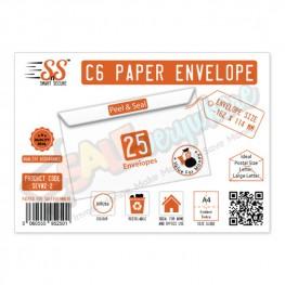 C6 White Paper Envelope Value Range Pack of 25