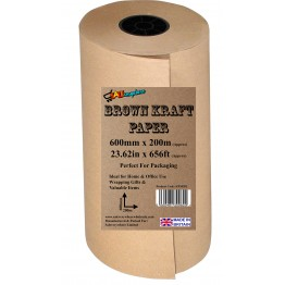 Brown Kraft Wrapping Paper 600mm x 200m