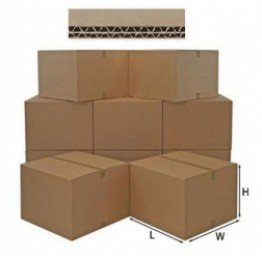 Double Wall Cardboard Boxes 30.4cm x 22.8cm x 22.8cm Box of 15